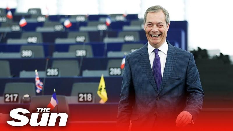 I'm coming back Farage adresses EU Parliament