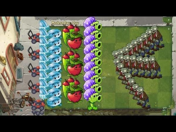 Pvz 2 - Apple Mortar, Winter Melon and Primal Peashooter