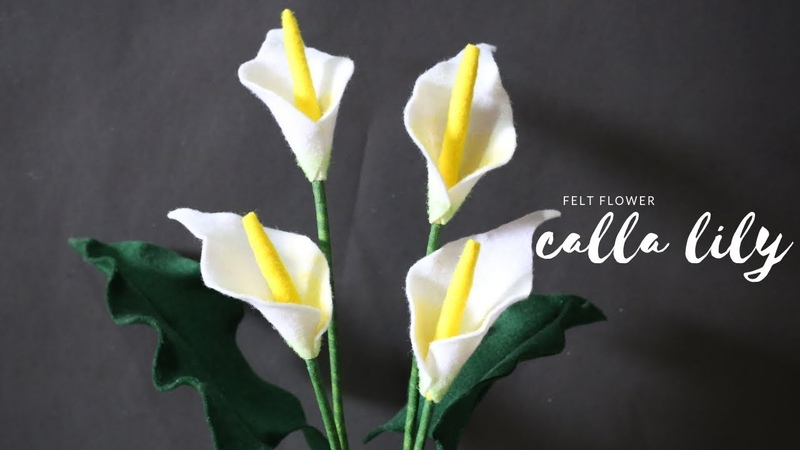 FELT FLOWER CALLA LILY | Bunga lily dari kain flanel