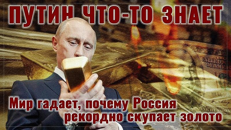 Путин что-то знает мир гадает, почему Россия рекордно скупает золото