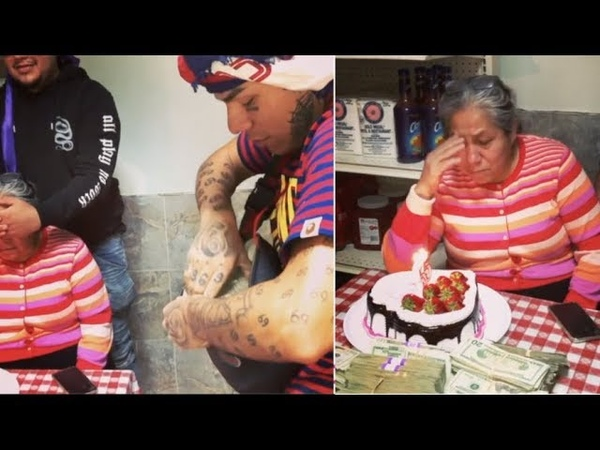 """6ix9ine Mom """"Cries After Getting $100K Cash For Her Birthday"""""""