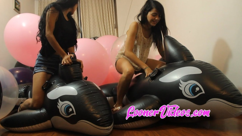 Inflatable Whales and Two Looner Girls 40 Giant balloons ft Katie Tammy