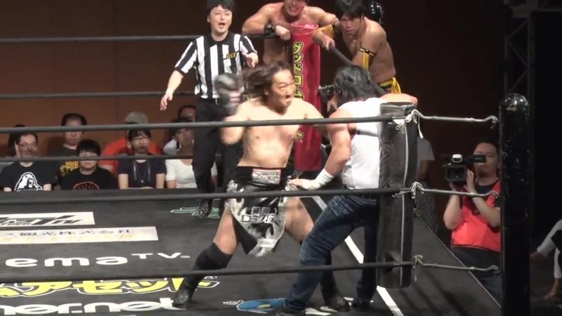 Takashi Sasaki, GENTARO, Tanomusaku Toba vs. KUDO, HARASHIMA, Ken Ohka (DDT - Masahiro Takanashi 15th Anniversary Show)