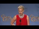 Jennifer Lawrence with Steve Buscemi face at Golden Globe awards