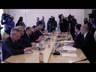 Переговоры С.В.Лаврова с Первым заместителем Председателя Правительства, Министром иностранных дел Сербии И.Дачичем