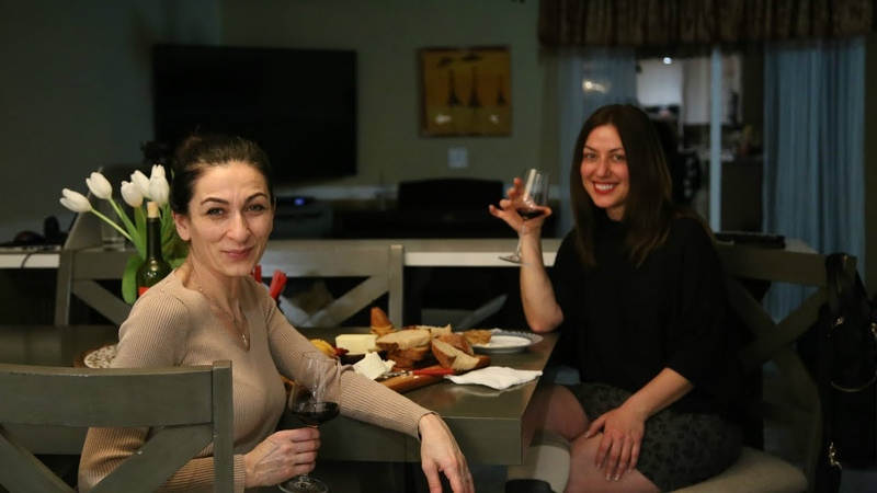 Bread and Wine Night with My Good Friend Anahit - Heghineh Family Vlogs