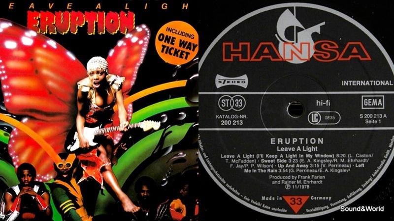 Eruption – Leave A Light (Vinyl, LP, Album) 1979.