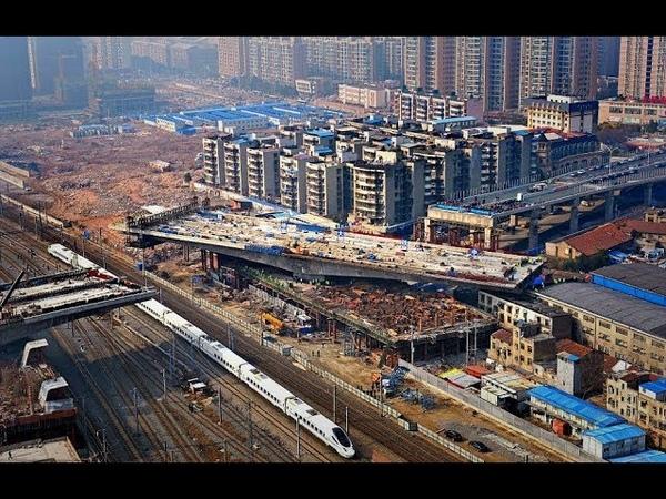 Как китайцы разворачивают 100-метровые мосты