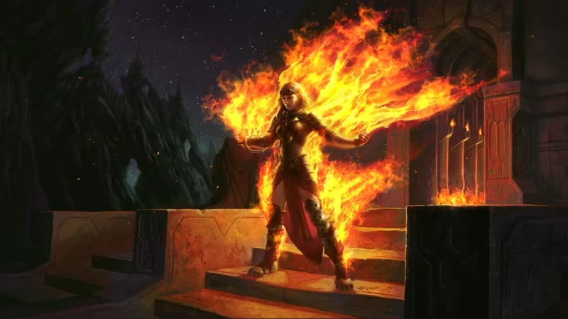 Magic The Gathering Chandra Roaring Flame - [4K]