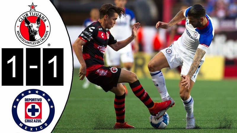 Tijuana Vs Cruz Azul 2018 Resumen Y Goles 1-1 Highlights All Goals 2018