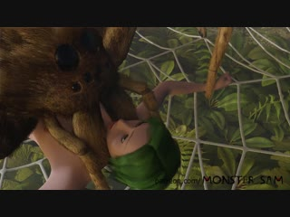 3d animated bestiality breasts caught female forced green hair helpless human on feral insect interspecies male on fem