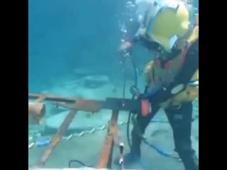 Amazing what these underwater welders do