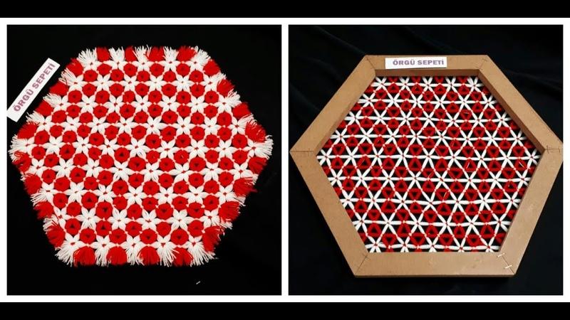 Kasnak lif modeli anlatım How to Make a Flower on a Loom