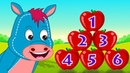 Learning 1 To 6 Numbers With Ola The Donkey | Learning Numbers For Kids | Number Song