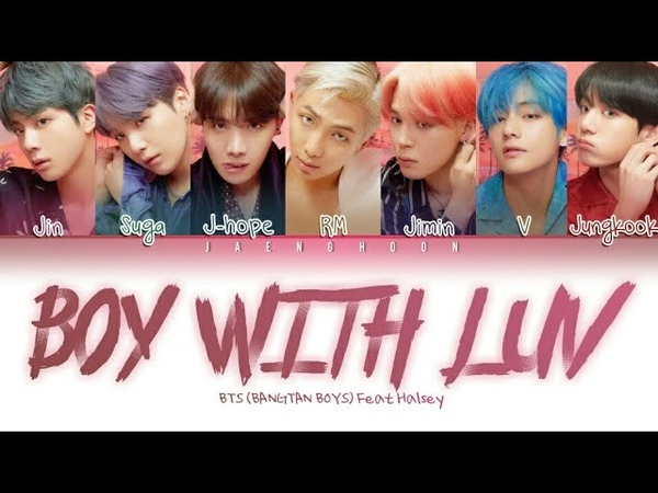 BTS (방탄소년단) - Boy With Luv Feat Halsey (Letra Traduzida Codificada Em Cores Pt-BrRomHan가사 음악)