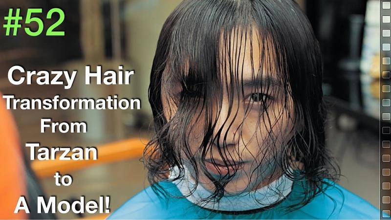 Curly Hair Transformation 2019 ✔︎ (Scissors Haircut Tutorial) Natural Hair   Barber UAE/USA
