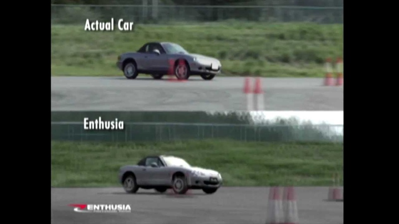 Enthusia Professional Racing (PS2, 2005) - Remastered Physics Featurette (Mazda MX-5 Miata).