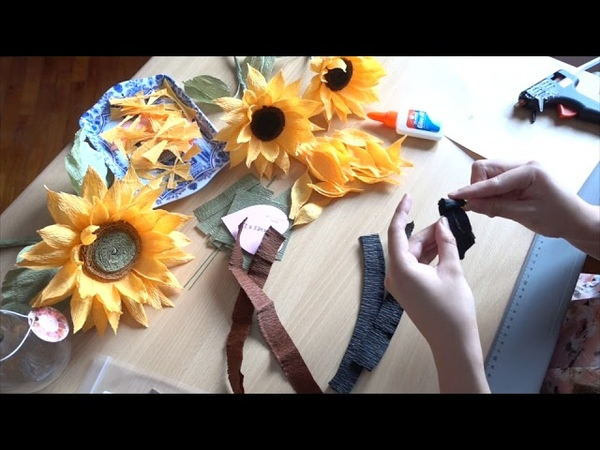 MPB Mini Crepe Paper Sunflower Tutorial