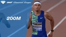 Photo finish between Michael Norman and Noah Lyles at the 200m in Rome - IAAF Diamond League 2019