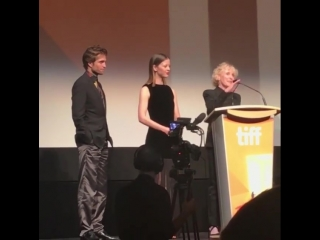 Rob, Mia and Claire on Stage at TIFF 'High Life' premiere