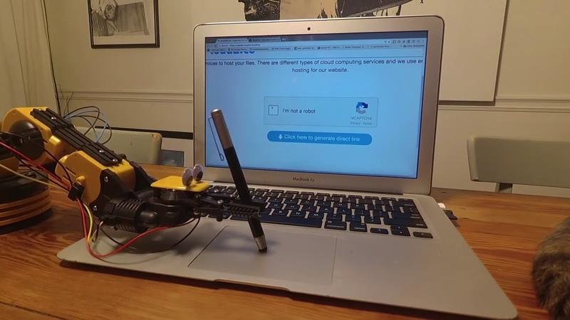 Robot beats I am not a Robot Captcha - Робот нажимает на я не робот