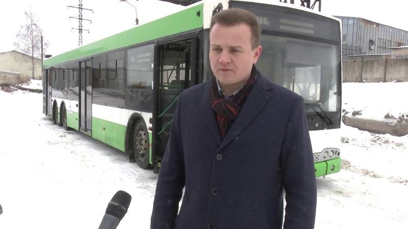 Новые автобусы прибыли в Смоленск