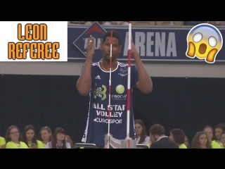 LEON - a volleyball referee! Best Funny Volleyball Moments
