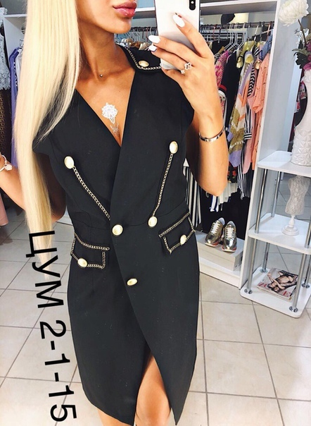 Шикарные платье-пиджак DO CE GAB ANA  Размеры1: черных L
