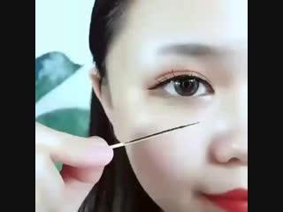 Как нарисовать красивую форму бровей