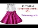 DIY Como hacer vestido de niña forrado