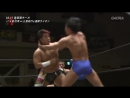 Hajime Soma Sumeragi vs Masayuki Mitomi Rionne Fujiwara WRESTLE 1 Tag League