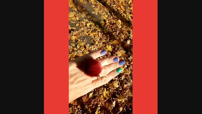 кольцо с мехом норки