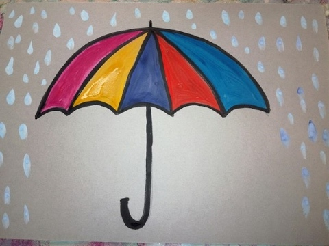Рисуем зонтик
