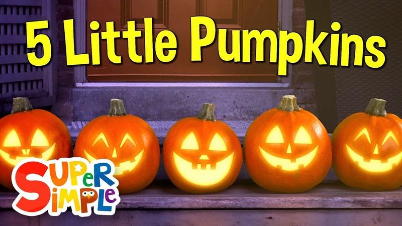 Five Little Pumpkins | Pumpkin Song | Super Simple Songs