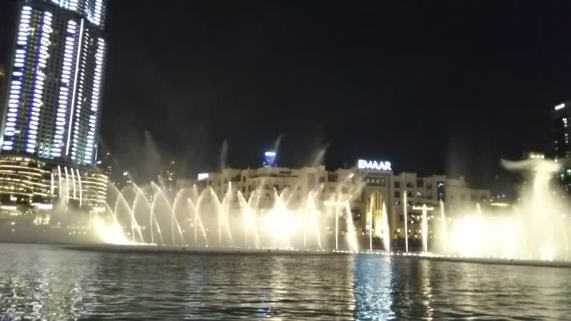 Dubai Fountain поющие и танцующие фонтаны Дубая Завораживающее зрелище Это надо увидеть