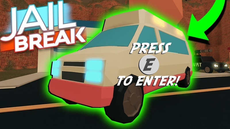 DRIVING NEW JAILBREAK AMBULANCE! *FIRST LOOK*