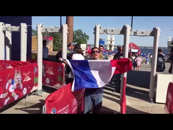 "This French fan in Volgograd yesterday signing England's ""Don't take me home""... Good effort!! :))"