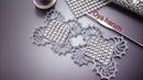 558-Metre boncuktan salon takımı motifi yapılışı
