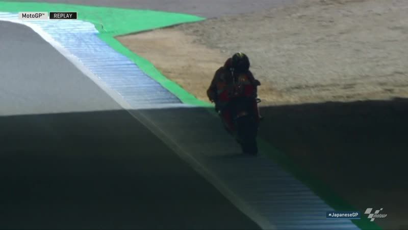 JapaneseGP 2018: падение Маркеса на FP4 MotoGP (видео)