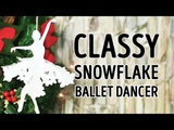 Easy craft snowflake ballerinas for the holiday season l 5-MINUTE CRAFTS