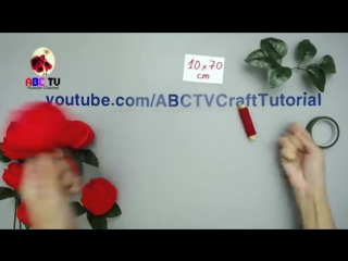 ABC TV _ How To Make Rose Paper Flower From Crepe Paper - Origami Craft Tutorial.mp4