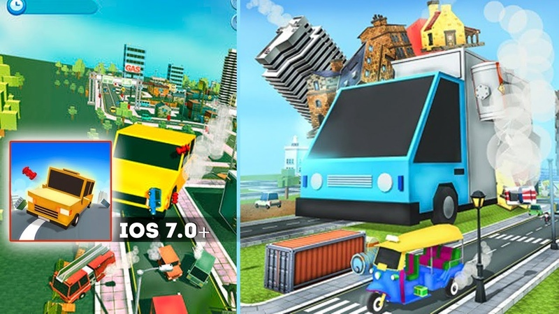 Big Big Car Drive.io - Gameplay iOS. Eat everything that is on your way to become bigger and bigger