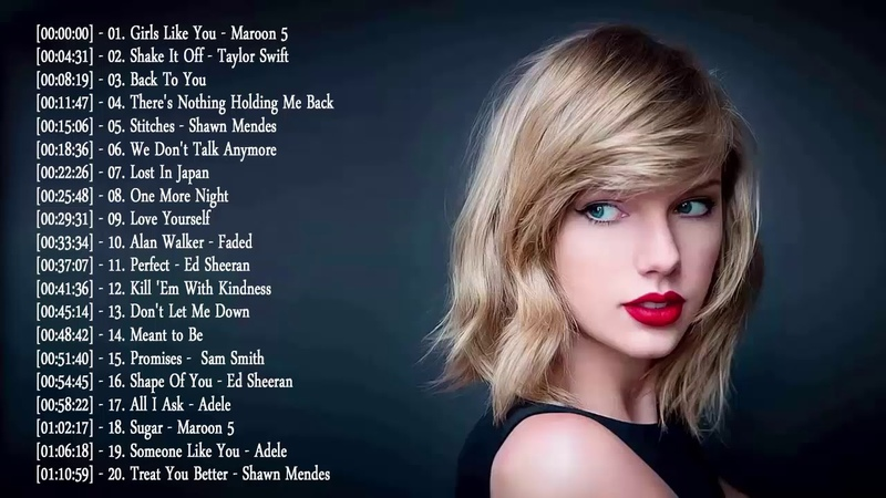 Maroon 5, Ed Sheeran, Taylor Swift, Adele, Sam Smith, Shawn Mendes | Best English Songs 2018