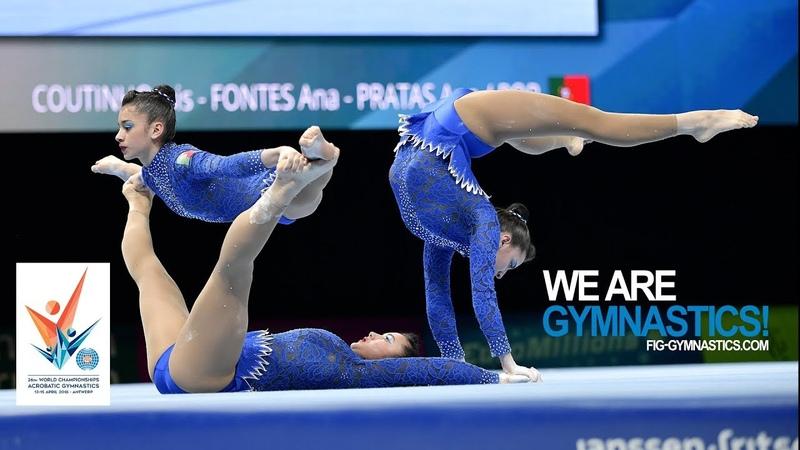 2018 Acrobatic Worlds Antwerp BEL Highlights WOMEN'S GROUPS FINAL We Are Gymnastics