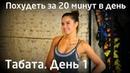 Табата комплекс упражнений для похудения День 1
