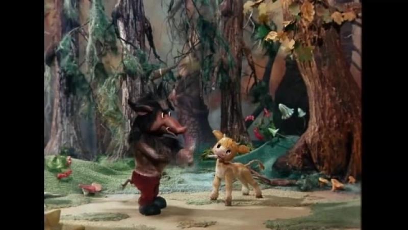 Волк и телёнок на бурятском