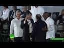 La ceremonia de homenaje a Fidel Castro en la Plaza de la Revolución de La Habana