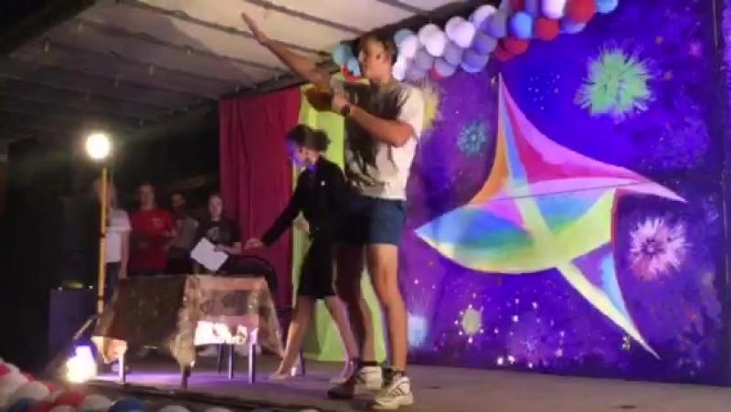 Выступление на День Молодежи победителей номинации Мисс и мистер Старожилово 2018