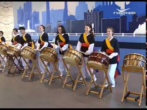 Самарцев познакомили с корейской народной музыкой самульнори