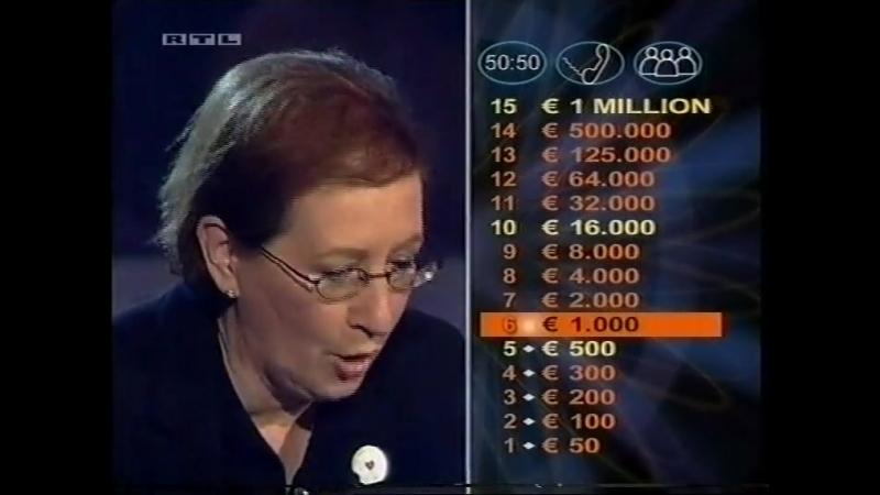 Wer wird Millionär 25 11 2004 Prominenten Special